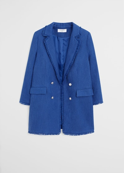 Violetta Plus Size Frayed Jacket