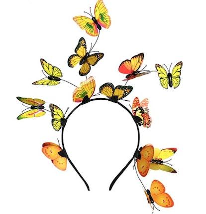 Butterfly Fascinator Hat Monarch Derby Headband Festival Crown Halloween Costume