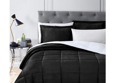 Chezmoi Collection Micromink Sherpa Reversible Comforter Set