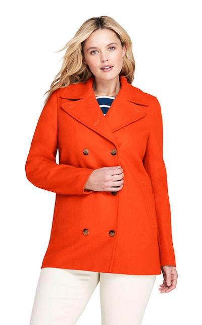 Women's Plus Size Wool Peacoat