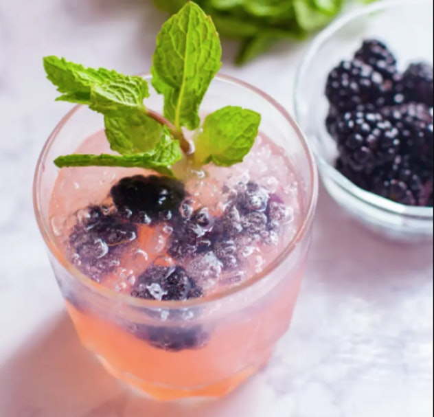 Blackberry Moscow Mule with Mint