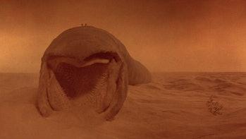 The sandworm in 'Dune' 1984.