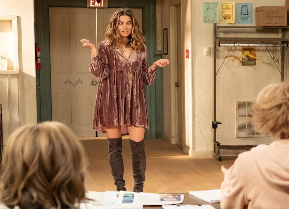 Alexis Rose loves to rock flow-y party dresses on 'Schitt's Creek.'
