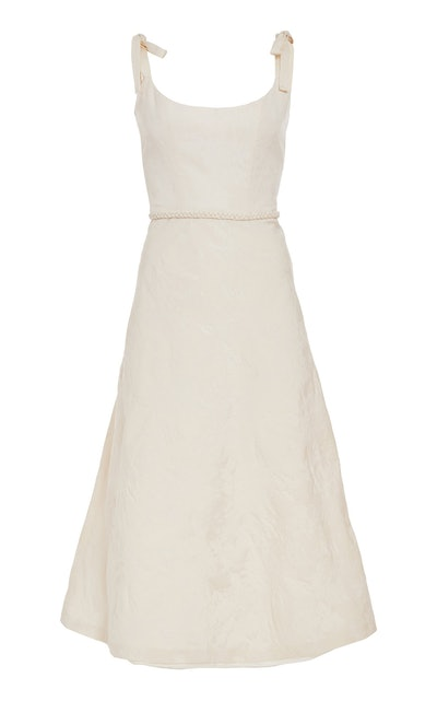 Ornella Ivory Bias Corset Dress