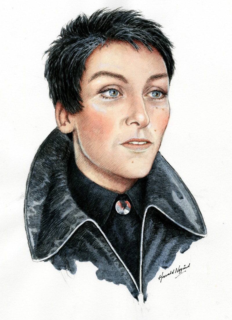 a sketch of Jennifer Fairgate from Unsolved Mysteries via the Netflix press site