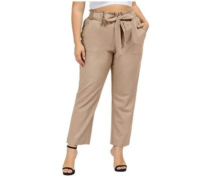 Hanna Nikole Plus Size Bow Pants