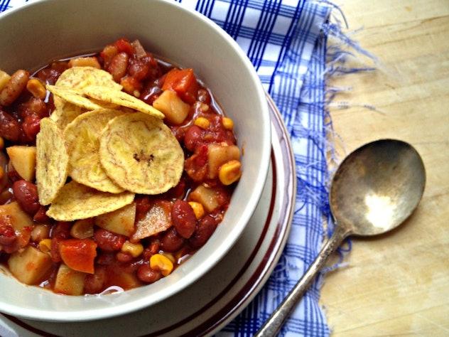 vegetarian two bean stew
