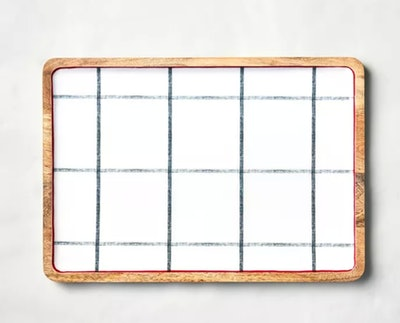 Hearth & Hand™ With Magnolia Holiday Plaid Enamel & Wood Serving Tray