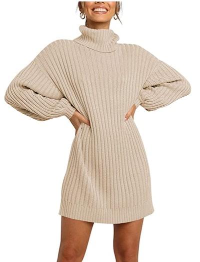 ANRABESS Turtleneck Dress