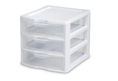 Sterilite Mini Three-Drawer Organizer (2-Pack)