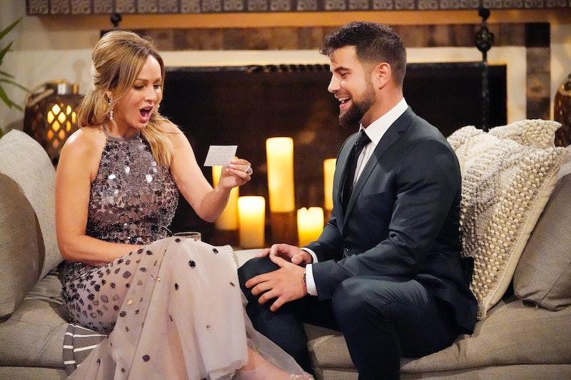 Blake Moynes talks to Clare Crawley on The Bachelorette via ABC Press Site