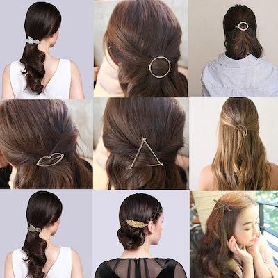 Jaciya Minimalist Hair Clips (15-Pack)