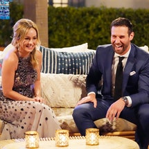Jason Foster laughs with Clare Crawley on The Bachelorette via ABC Press Site