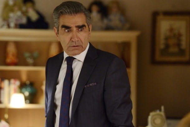 Johnny Rose pretty much exclusively wears suits on 'Schitt's Creek.'