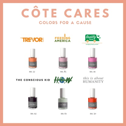 The organizations receiving the money from Côte Cares, a new nail polish initiative.
