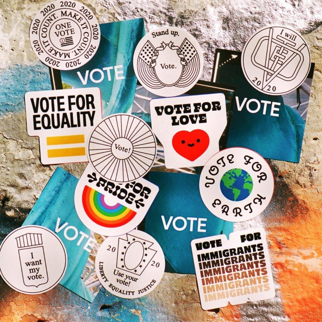 Apply stickers for change.