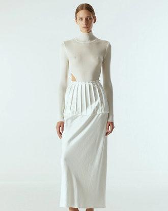 Knitted Asymmetric Bodysuit