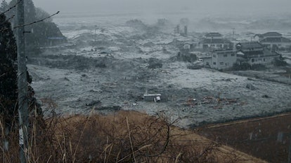 The 2011 tsunami hitting Ishinomaki in Japan in 'Unsolved Mysteries' in Volume 2 Episode 4, via Netflix press site.