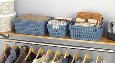 Whitmor Rattique Storage Baskets (3-Pack)