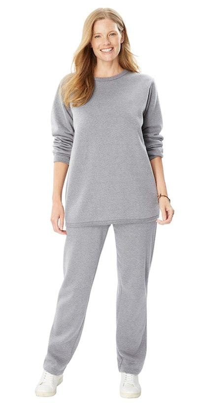 Woman Within Plus Size Fleece Sweatsuit