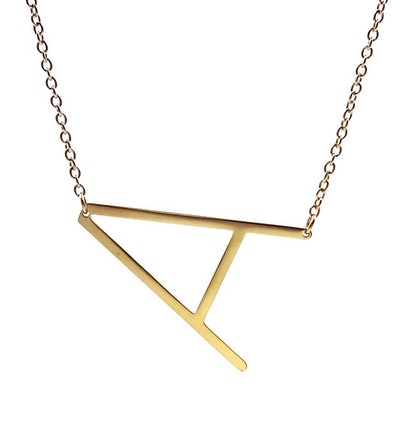 14K Statement Initial Letter Necklace