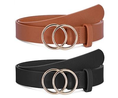 SANSTHS O-Buckle Belts (2-Pack)