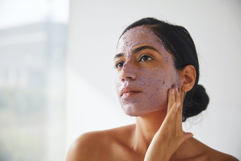 Lush Beauty Sleep Face and Body Mask applied to skin.