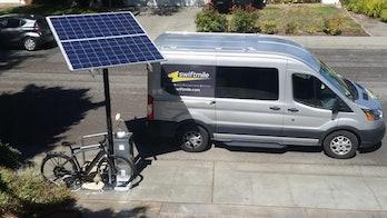 Swiftmile makes free, solar-powered e-bike charging stations.