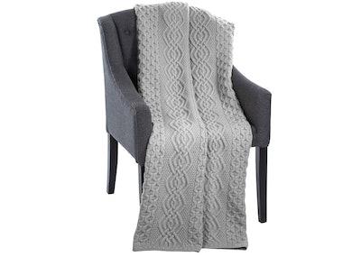 SAOL Honeycomb 100% Merino Wool Blanket