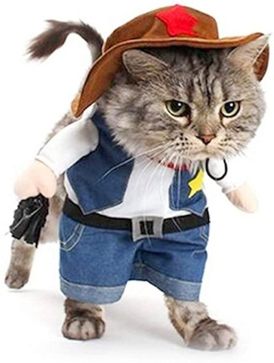 Meihejia Funny Cowboy Jacket Suit - Super Cute Costumes for Small Dogs & Cats