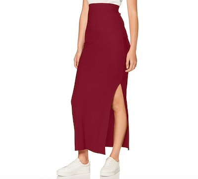 Meraki Ribbed Maxi Skirt