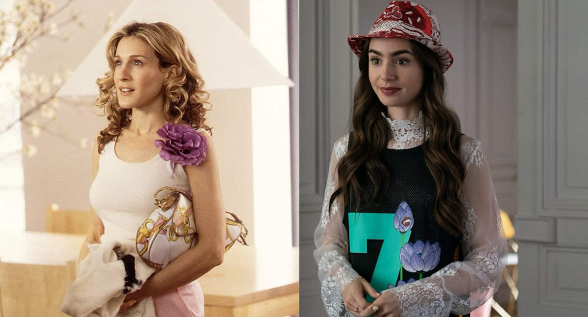 """Carrie Bradshaw from 'Sex & The City,"""" Emily from 'Emily In Paris'"""