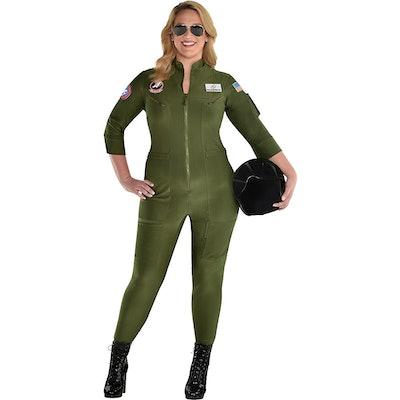 Party City Plus Size Maverick Flight Suit