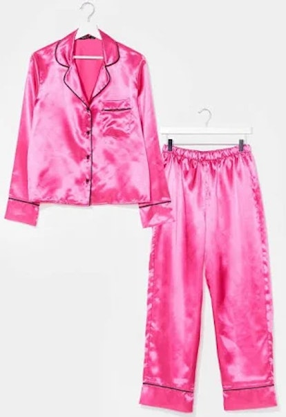 Nasty Gal Candy Coated Button-Down Satin Pajama Set