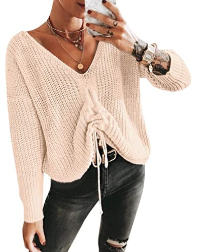 BerryGo Drawstring Sweater