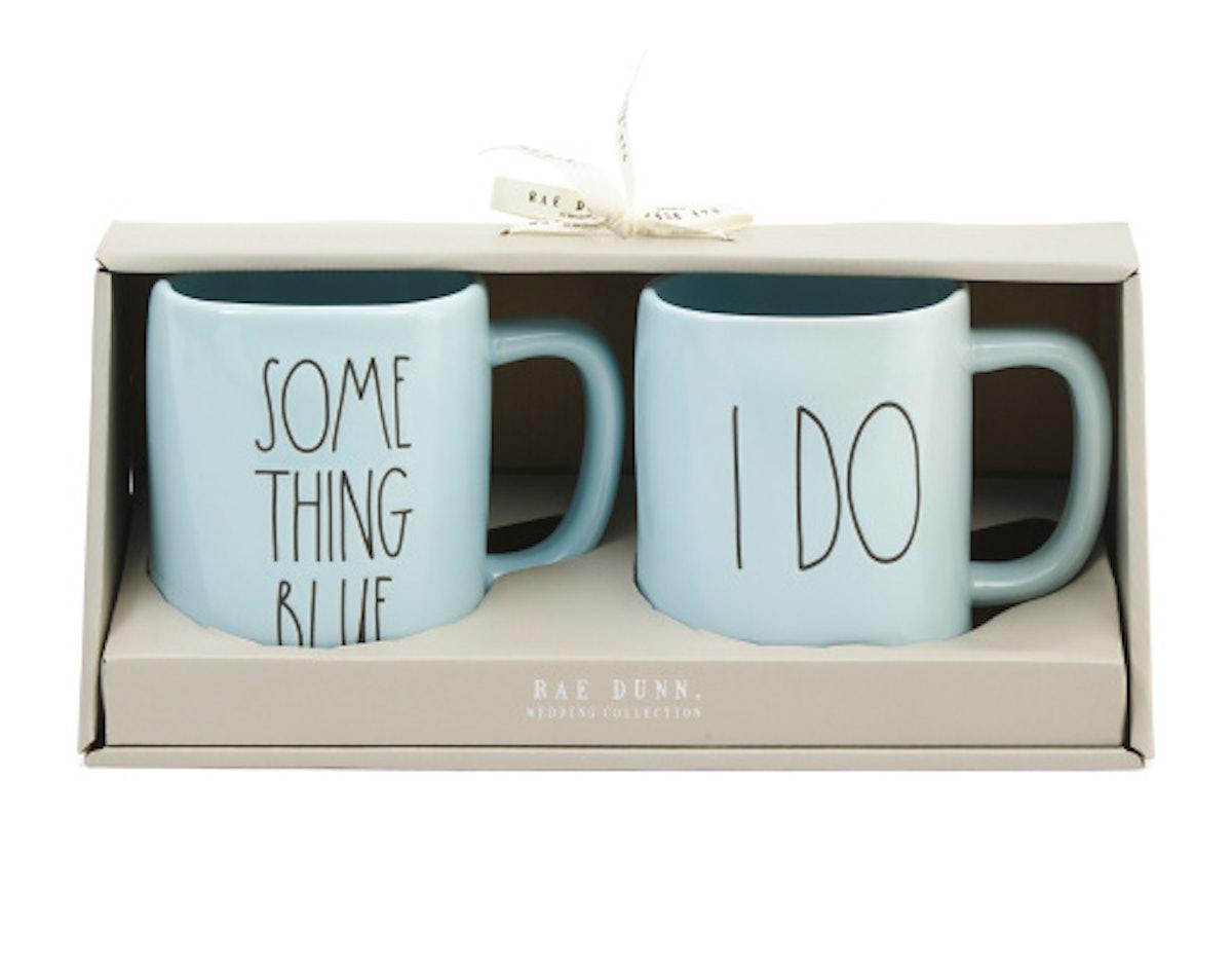 RAE DUNN 2pk Something Blue & I Do Mugs