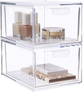STORi Audrey Stackable Cosmetic Organizer Drawers (Set of 2)