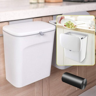 AYADA Hanging Trash Can with Lid
