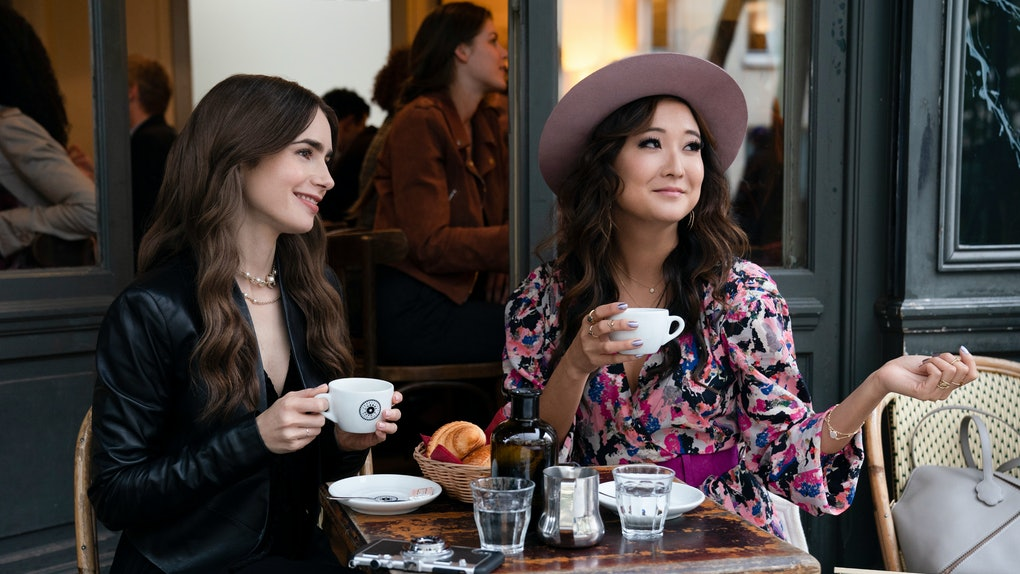Lily Collins and Ashley Park in 'Emily in Paris'