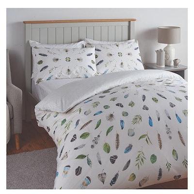 Feather Print Bedding Set - Double
