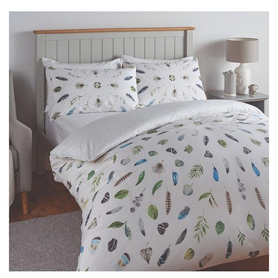 Feather Print Bedding Set - Double
