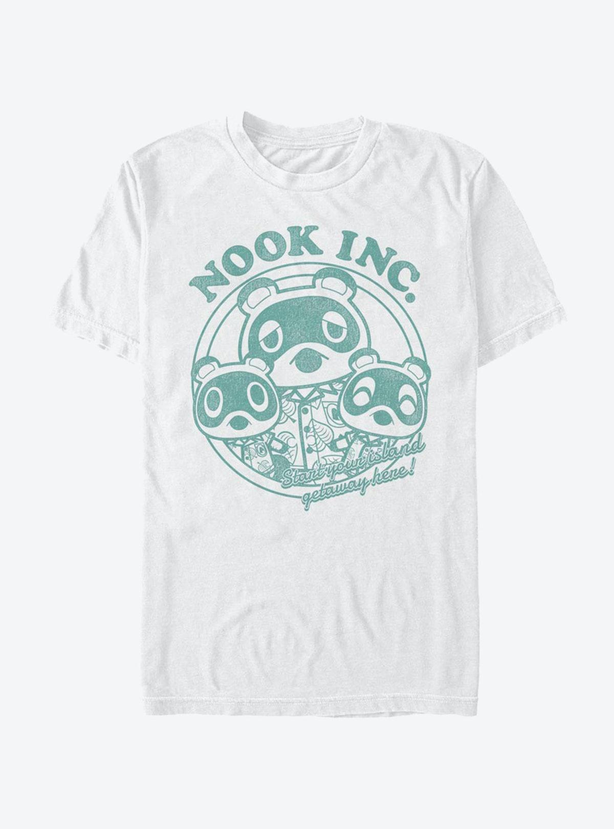 Hot Topic Animal Crossing Nook Inc. Getaway T-Shirt