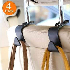 FJCTER Car Vehicle Headrest Hooks
