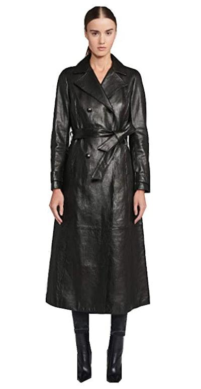 Number Seven Women's New Zealand Lambskin Trench Coat