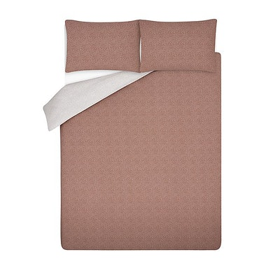 King Sized Dusky Pink Reversible Duvet Set