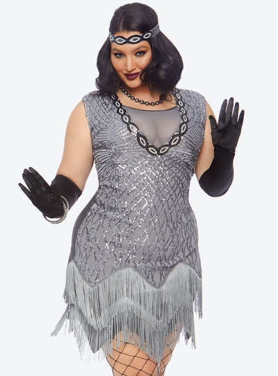 Hot Topic Plus Size Roaring Roxy Sequin Dress
