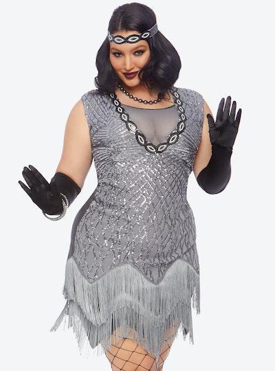 Hot Topic Plus Size Roaring Roxy Sequin Dress