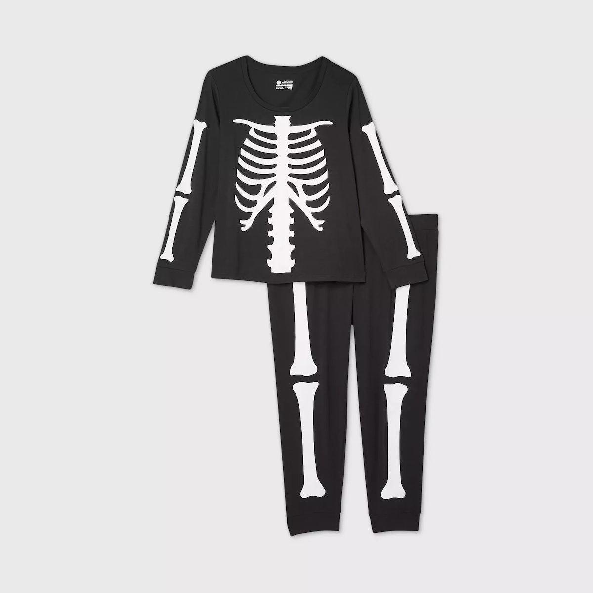 Target Women's Plus Size Halloween Skeleton Matching Family Pajama Set