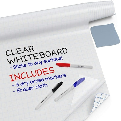 Kassa Clear Dry Erase Board Sticker