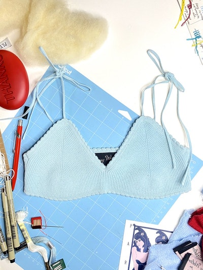 JENNY SCALLOPED BRALETTE IN FORGET-ME-NOT-BLUES